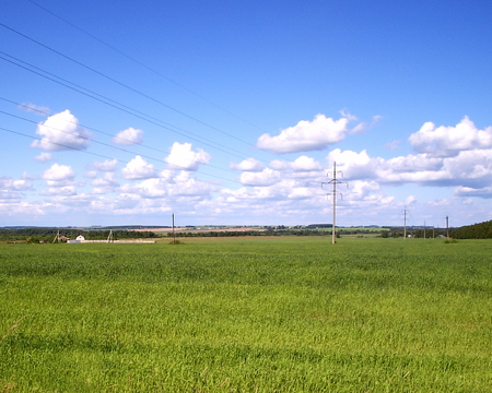 View of the landscape and surrounding area in Yaroslavl Oblast, Central Federal District, Russia