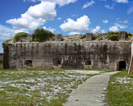View of an area within Fort Pickens - Pensacola, Florida