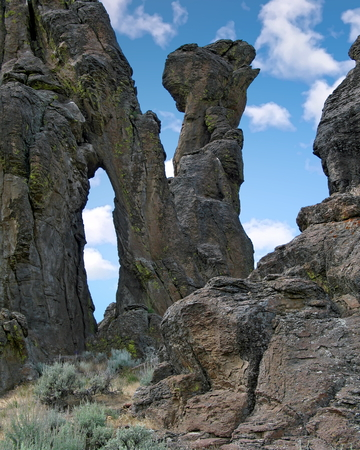 Spectacular scenery at Idahos Little City of Rocks Фото со стока