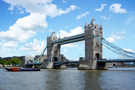 London Tower Bridge spanning the Thames River - London, England