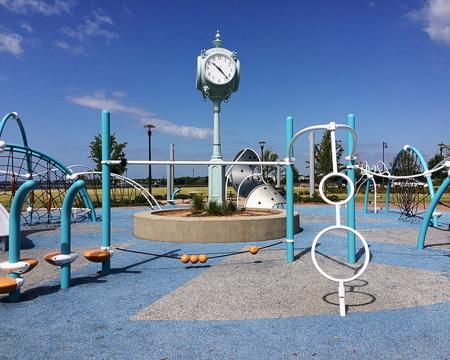 Close-up of a playground at the Maritime Park - Pensacola, Florida Standard-Bild - 115064607