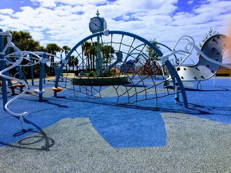 Close-up of a playground at the Maritime Park - Pensacola, Florida Standard-Bild - 115064614