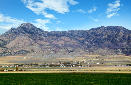 Utah landscape with a view of the Gunsight Peak Range in Utah, USA Standard-Bild - 117353680
