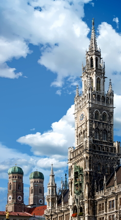View of the New Town Hall in Munich, Germany Standard-Bild - 117353454