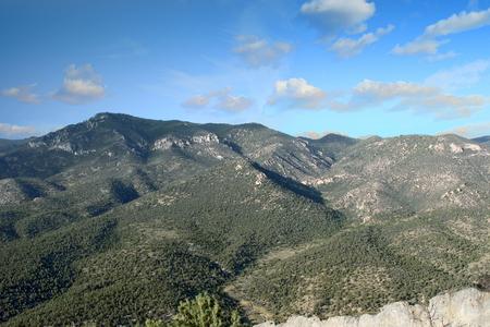 View of the Schell Creek Range in the eastern region of Nevada, USA. Standard-Bild - 117353500