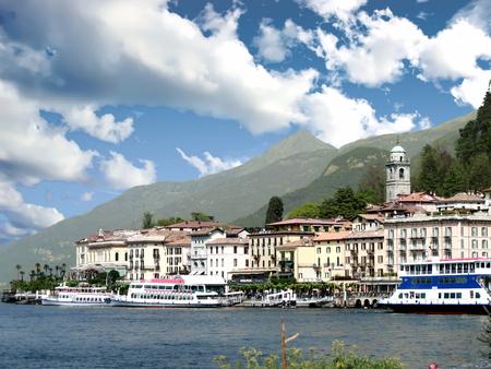 View of Bellagio and Lake Como, Italy Standard-Bild - 120550733