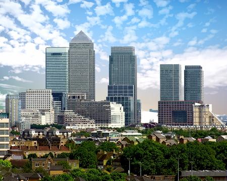 Canary Wharf and skyline - London, United Kingdom