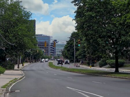 A view of Washington Street and downtown - Stamford, Connecticut