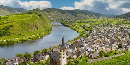 Aerial view of Bremm, Rhineland-Palatinate, Germany Stock Photo