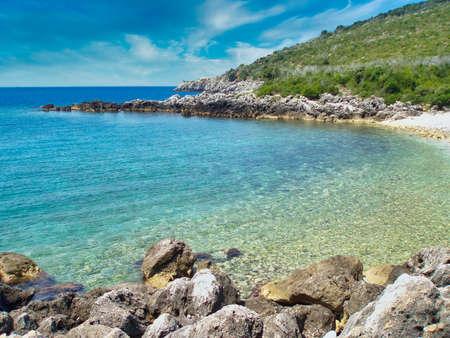 Himare coastline and beach, Himare, Albania