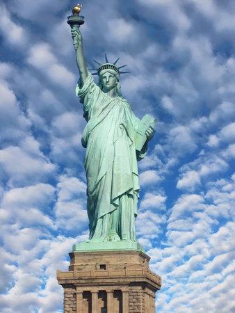 Statue of Liberty on Liberty Island in New York Harbor, New York, USA