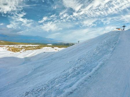 Winter scene in the Etna Nord region, Linguaglossa, Province of Catania, Italy
