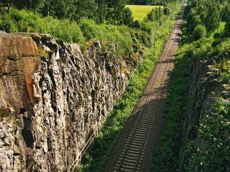 Tracks along the Karelian railroad line, Kinnarniemi, Parikkala, Finland