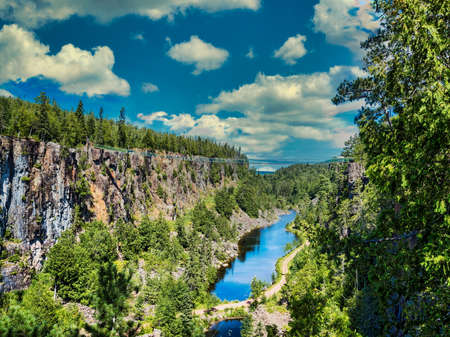 Scenic view over Eagle Canyon in Ontario, Canada