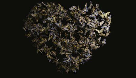 animalitos tiernos: Coraz�n por volar mariposa en negro