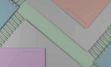 seam: Colorful material design style pattern with seam.  Abstract overlapping shapes in pastel color combinations.