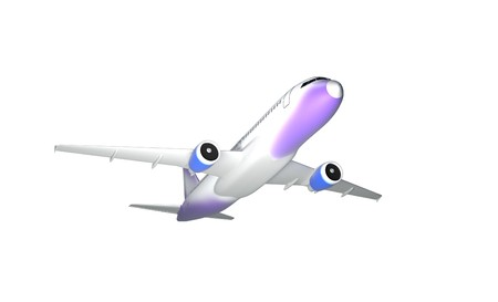 jet plane, isolated on white background 3d render