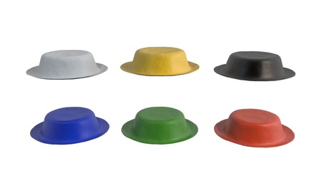 Illustration of the six hats. Business method brainstorm solve 3d render