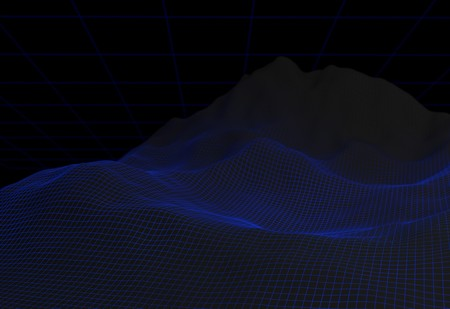Data visualization background. Binary code, coding and programming concept . 3d render