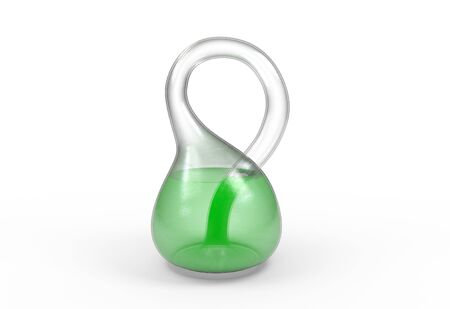 Klein bottle isolated on a white background 3d render