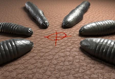leech: leech worms targeting on human skin 3d illustration