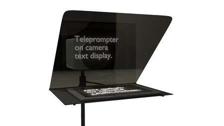 television teleprompter with camera studio 3d illustration