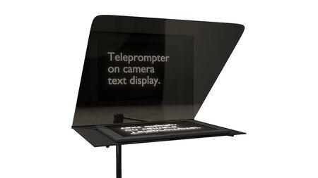 televisie teleprompter zonder camera 3d illustratie