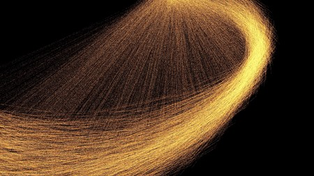 Circle showers of hot glowing sparks in motion from spinning steel wool 3d render
