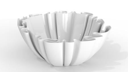 Designer ceramic bowls 3d illustration isolated Banque d'images - 114551270