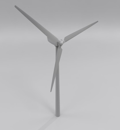 Windmill for electric power production, 3d illustration