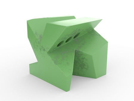 Abstract 3d rendering of geometric shape. Surreal composition. 3d illustration Stock Photo