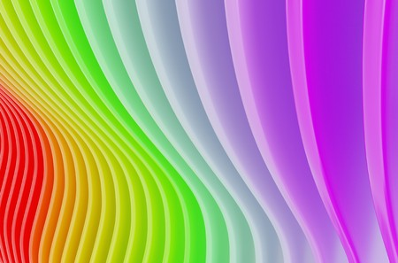 colorful background rainbow curved shapes 3d illustration