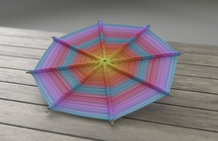 Colorful Mandalas on wood for anti-stress therapy and yoga 3d illustration