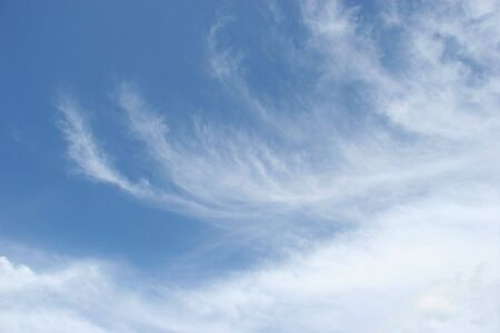 Sky with cirrus clouds photo