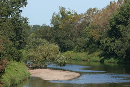 late summer: Mulde river in late summer in Germany