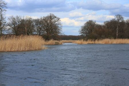 floodplain: Lake in a floodplain in early spring Stock Photo