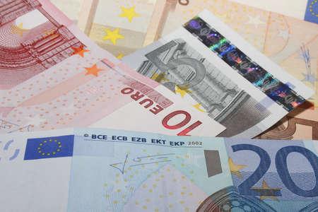 billets euros: D�tails de billets diff�rents Banque d'images