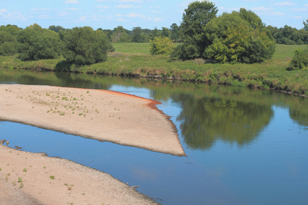 Mulde river in summer in Saxony-Anhalt  Germany