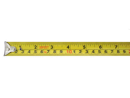 Tape measure isolated.