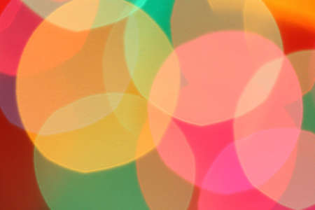 Multicolored balls of light for background.
