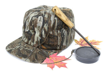 Turkey hunters hat and slate call.
