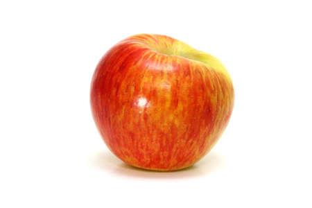 Honey crisp apple on white.