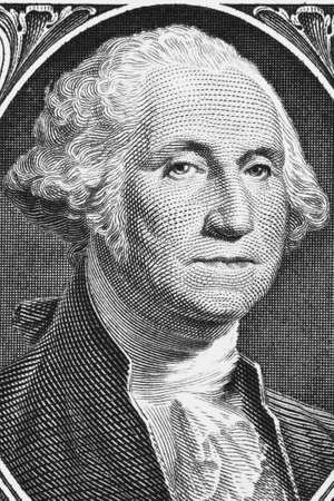 Macro shot of George Washington. Stock Photo