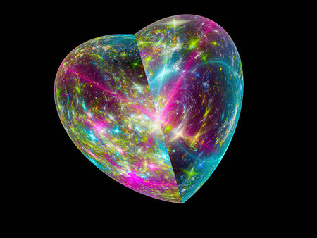 Multi-colored fractal heart