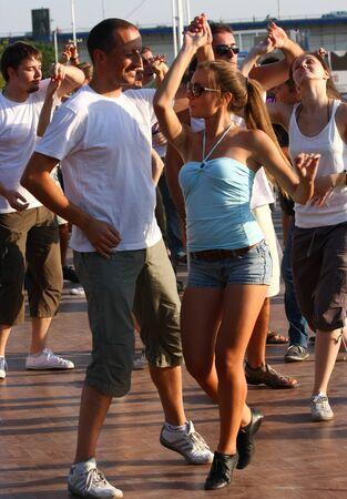 belgrade: Festival of Latin dances zumba,rumba,samba,salsa,held in Belgrade,Serbia in August 2011.organized by Tourist Organization of Belgrade