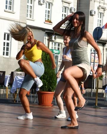 Festival of Latin dances zumba,rumba,samba,salsa,held in Belgrade,Serbia in August 2011.organized by Tourist Organization of Belgrade Stock Photo - 12272501