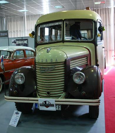 praga: 51st Belgrade International Car Show,March 2013.,bus Praga,Pionir made 1939