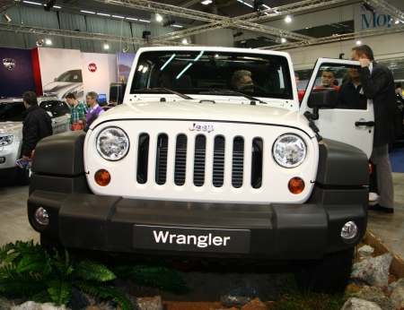 salon automobile: 51e Salon de l'auto international de Belgrade, Mars 2013.Jeep Wrangler �ditoriale