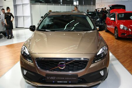 salon automobile: 51e internationale de Belgrade Car Show, Mars 2013.Volvo Cross Country �ditoriale