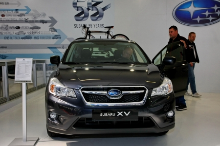 salon automobile: 51e internationale de Belgrade Car Show, Mars 2013.Subaru XV